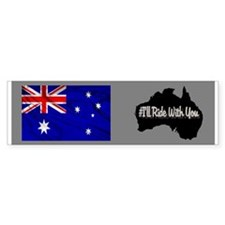 Ride Australia Bumper Sticker