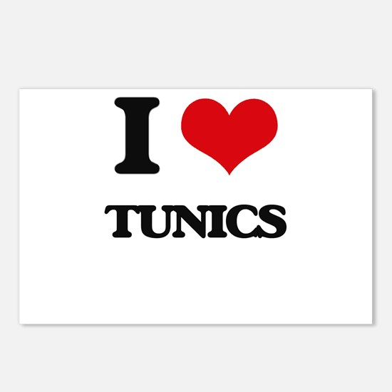 I love Tunics Postcards (Package of 8)