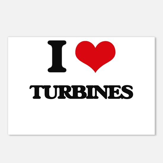 I love Turbines Postcards (Package of 8)