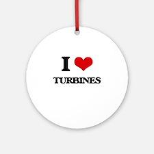 I love Turbines Ornament (Round)