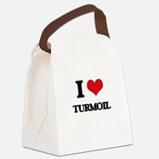 I love Turmoil Canvas Lunch Bag