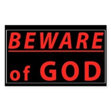 Beware Of God Rectangle Decal