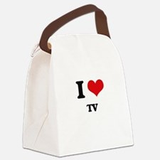 I love Tv Canvas Lunch Bag
