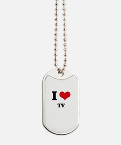 I love Tv Dog Tags