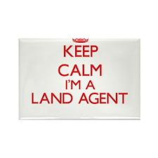 Keep calm I'm a Land Agent Magnets