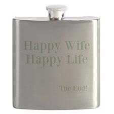 Happy Wife Happy Life Flask