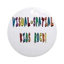Visual Spatial Kids Rock Ornament (Round)
