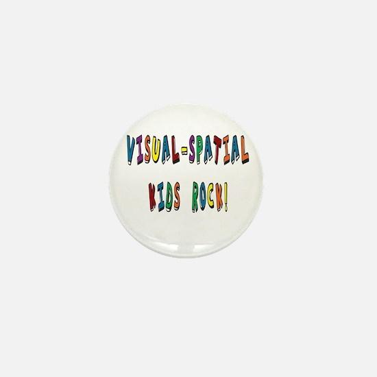 Visual Spatial Kids Rock Mini Button