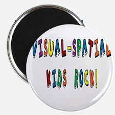 Visual Spatial Kids Rock Magnets