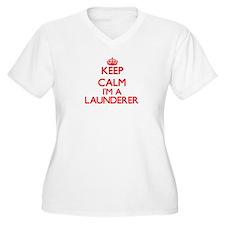 Keep calm I'm a Launderer Plus Size T-Shirt