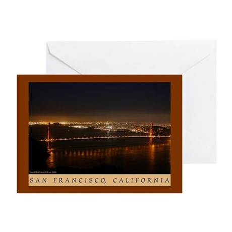 golden gate bridge night photo greeting cards (6)