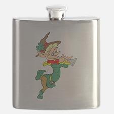 Leprechaun Playing Horn Flask