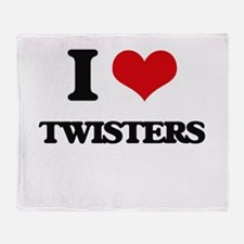 I love Twisters Throw Blanket
