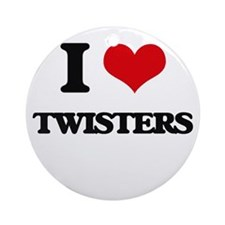 I love Twisters Ornament (Round)