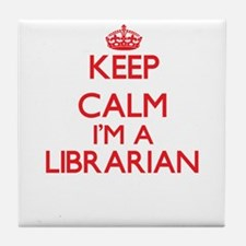 Keep calm I'm a Librarian Tile Coaster