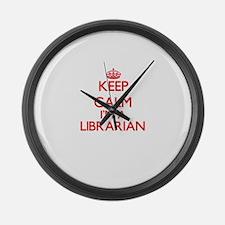 Keep calm I'm a Librarian Large Wall Clock
