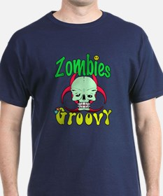 Zombies groovy fun T-Shirt