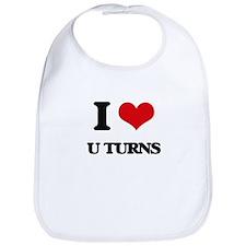 I Love U Turns Bib