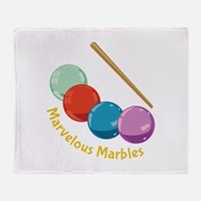 Marvelous Marbles Throw Blanket