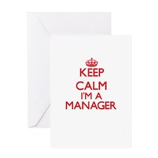 Keep calm I'm a Manager Greeting Cards