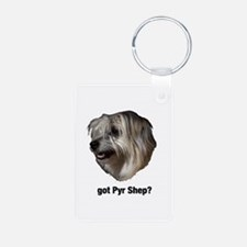 got Pyr Shep? Aluminum Photo Keychain