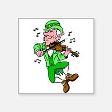 Leprechaun Playing Fiddle Sticker