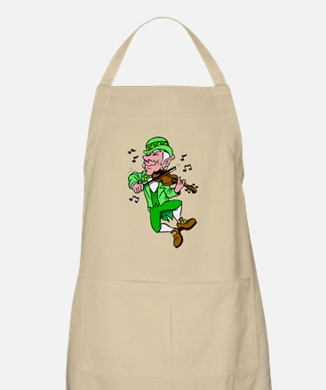 Leprechaun Playing Fiddle Apron