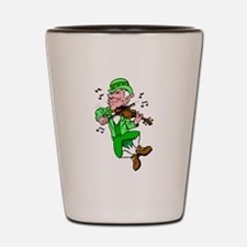 Leprechaun Playing Fiddle Shot Glass