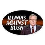 Illinois Against Bush Sticker