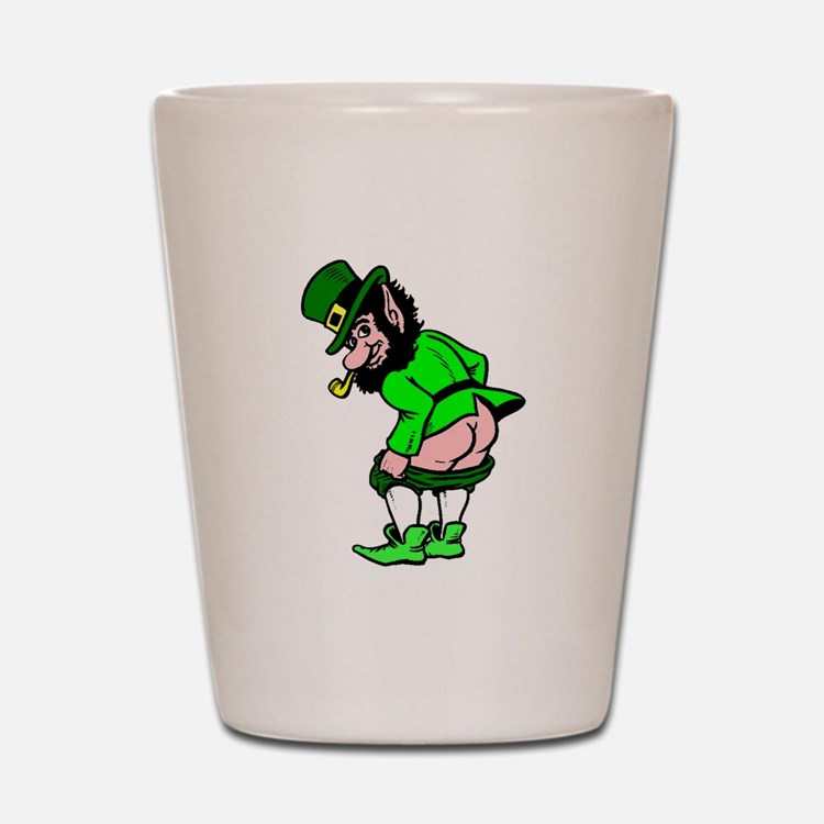 Leprechaun Mooning Shot Glass