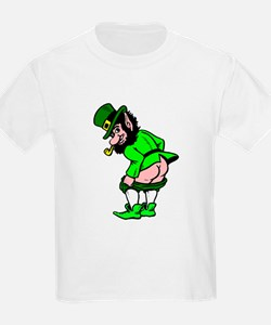 Leprechaun Mooning T-Shirt