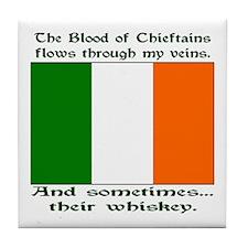 Irish Blood & Whiskey Tile Coaster