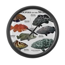 Groupers of the World Large Wall Clock