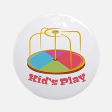 Kid's Play Ornament (Round)
