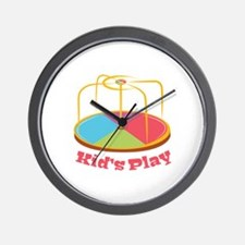 Kid's Play Wall Clock