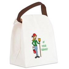 AT YOUR SERVICE Canvas Lunch Bag