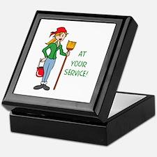 AT YOUR SERVICE Keepsake Box