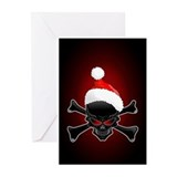 Black christmas Greeting Cards (10 Pack)
