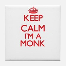 Keep calm I'm a Monk Tile Coaster