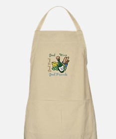 GOOD WINE FOOD FRIENDS Apron