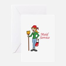 MAID SERVICE Greeting Cards
