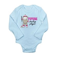 Cute Future hockey player Long Sleeve Infant Bodysuit