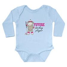 Cute Hockey players Long Sleeve Infant Bodysuit