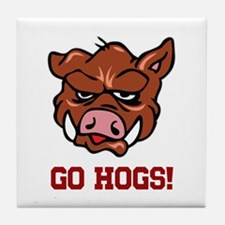 GO HOGS Tile Coaster