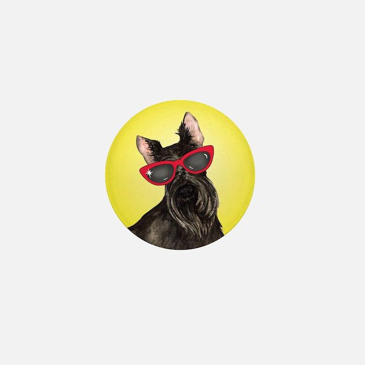 Summer Scottie Mini Button