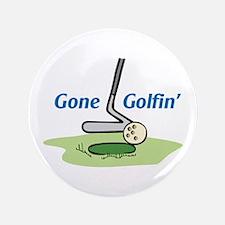"GONE GOLFING 3.5"" Button"