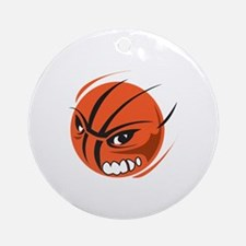 Angry BASKETBALL Ornament (Round)