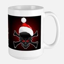 Christmas Santa Black Skull Mugs