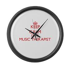 Keep calm I'm a Music Therapist Large Wall Clock