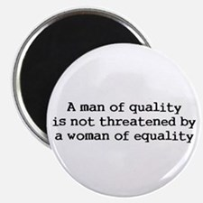 "A man of quality 2.25"" Magnet (10 pack)"